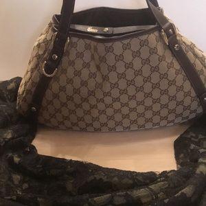 🌟WOW! Gucci Abbey GG Shoulder Bag # 130736 493492